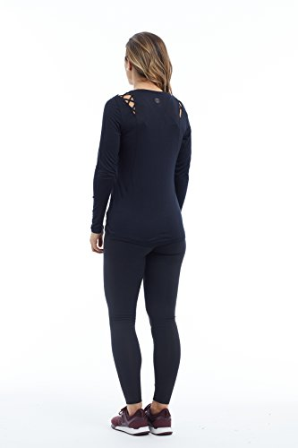 Balance Collection Damen Sloan Long Sleeve T-Shirt schwarz