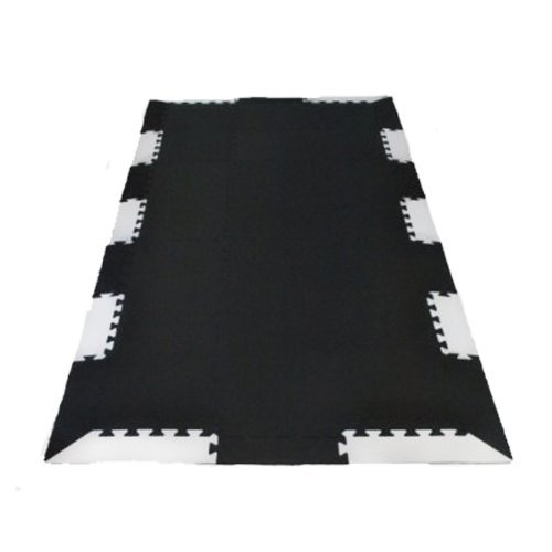 90 X 43 X ~9/16 Thick Treadmill Mat w/ Edging: Exercise Equipment Floor Protection Mat