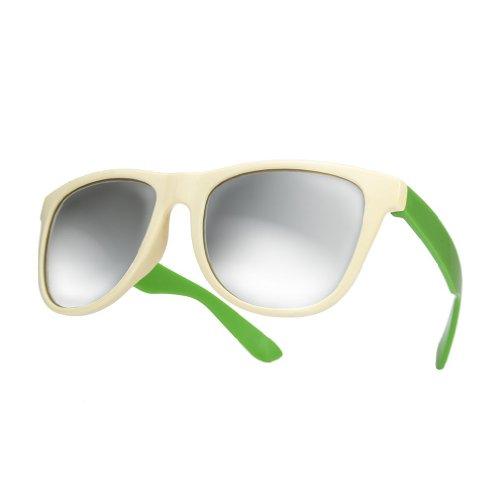 4sold Damen Sonnenbrille schwarz schwarz Universal schwarz mirror duo green Universal
