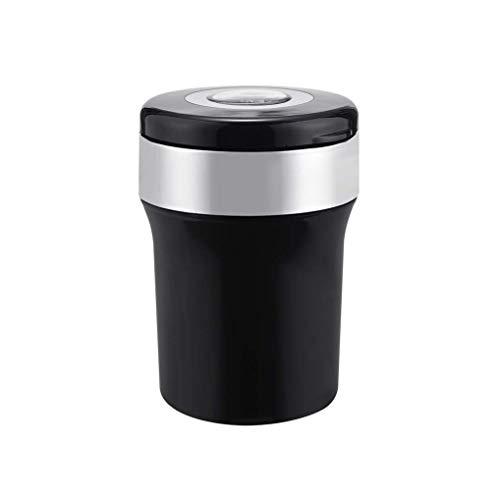 ZJYHG Rauchzubehör/Personalisierter Aschenbecher Mode Auto Aschenbecher Interne LED-Lichtquelle Aschenbecher mit Deckel Nachts kleine Größe für den Gebrauch im Auto -