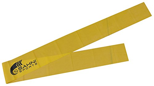 SAHNI SPORTS Latex Exercise Resistance Band Medium Premium, 1.5 meters, Yellow  available at amazon for Rs.249