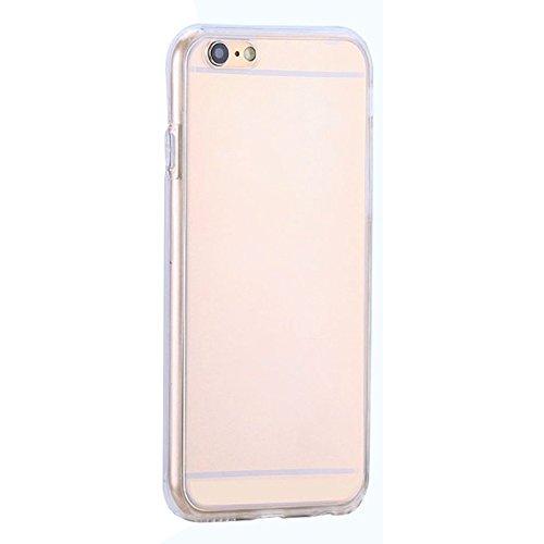SODIAL(R) 360 Grad Praktisch Huelle Rundum Schutz Cover Tasche TPU Case Vorne + Hinten Fuer iPhone 5/5S/SE Rose Gold transparent