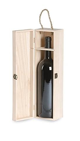Renoir - Massivholz -Weinflasche Kaution Pino für MAGNUM BORDEAUX - Ideal für Geschenkkörbe