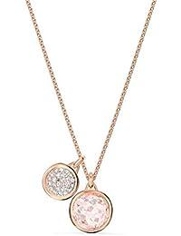 Swarovski Colgante Tahlia Doble, rosa, baño tono oro rosa