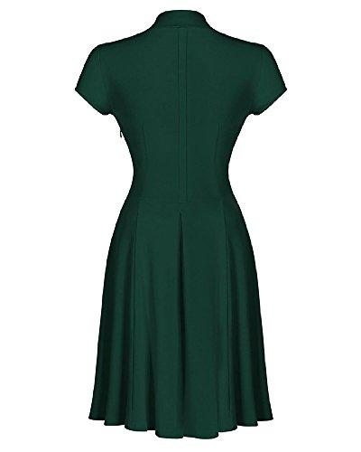 Donna Vestiti Scollo a V Abito Abiti Vestito da Matrimonio Banchetto Sera Verde