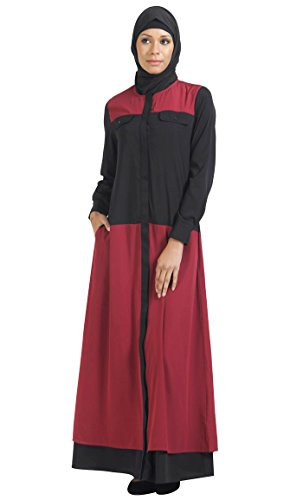 East Essence - Robe - Solid - Femme Multicolore - Black and magenta