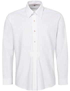 Almsach Trachtenhemd Jens Regular Fit mit Biesen in Weiß Inklusive Volksfestfinder