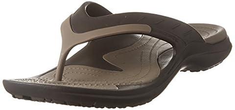 crocs Unisex Modi Sport Flip-Flop, Espresso/Walnut, Men's 12 M US/Women's 14 M US
