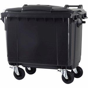 *CEP Abfall-Container 660l 4 Räder grau grauer Deckel*
