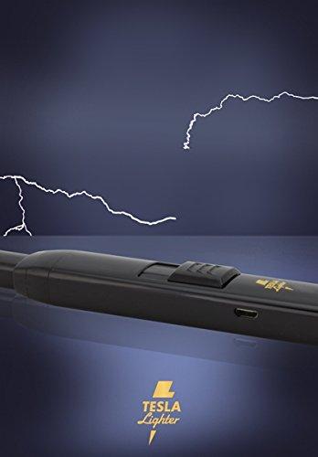31CTBjNmN6L - TESLA Lighter T07 | elektronisches USB Lichtbogen Stab Feuerzeug, Schwarz