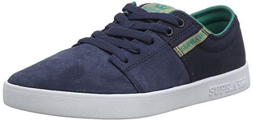 Supra Stacks II, Zapatillas de Skateboard Unisex Adulto, Azul Navy/Stone-White-M 467, 41 EU