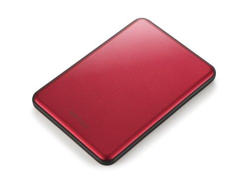 Buffalo Technology HD-PUS500U3R-EU MiniStation Slim externe Festplatte 500GB (6,4 cm (2,5 Zoll), SATA, USB 3.0) rot