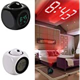 Abhsant Digital LCD Talking Alarm Clock with Projector Time Display Watch (Multicolour)