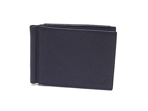 Roncato portafoglio uomo, Prima 411913-01, fermasoldi con tasca e molla in pelle, colore nero