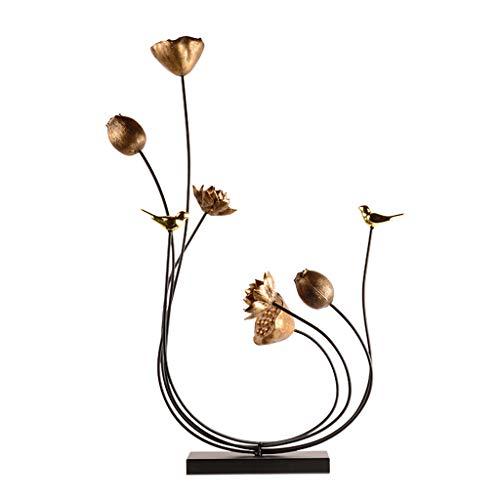 Jingtaohailang Geschenk Ornament Wohnaccessoires Chinesische Kreative Ornamente Wohnzimmer Metall Geschenke Büro Geschenkartikel Geschenk (Color : METALLIC, Size : 59 * 16 * 81CM) - Möbel Schlafzimmer Baldachin