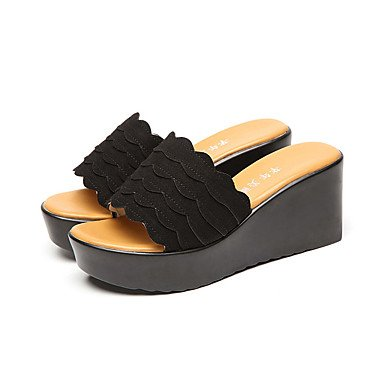 RTRY Donne'Stacchi Alti Comfort Slippersummer Casual Office &Amp; Carriera Comfort Tacco A Cuneo Verde Giallo Nero 2A-2 3/4In US6.5-7 / EU37 / UK4.5-5 / CN37