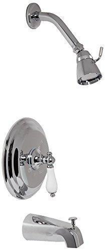 Elements of Design EB3631PL St. Louis Single Handle Tub & Shower Faucet, 7-1/2 Diameter Escutcheon, Polished Chrome by Elements of Design - St Louis Chrome