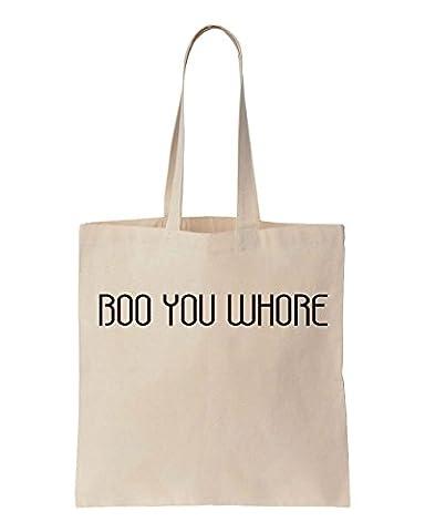 Boo You Whore Cotton Canvas Tote Bag