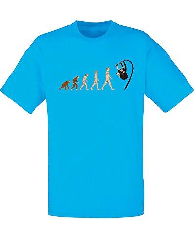 Evolution of Pole Vaulting, Mann Gedruckt T-Shirt Azurblau/Transfer