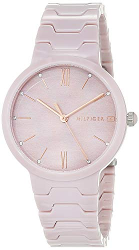 Tommy Hilfiger Damen Analog Quarz Uhr mit Keramik Armband 1781957