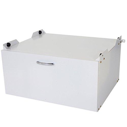 *Mendler Waschmaschinenunterschrank HWC-E50, Sockel Podest Erhöhung Untergestell, Schublade 33x61x62cm weiß*