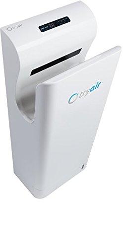 TRYAIR hygienischer Händetrockner mit bürstenlosem longlife Motor 750W für trockene Hände in 10 Sekunden (Weiß)