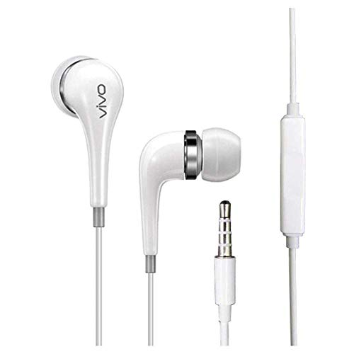 FebZu Super Bass Quality Wired Earphones in Ear Headphones with Microphone, Volume Control, Receive/End Calls, Noise-Isolation Earphone for VIVO & All Smart Phones