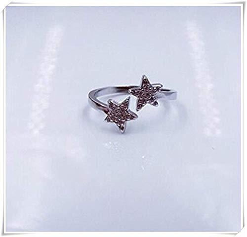 HOUHOUNNPO Sterling Silber Sterne Ring
