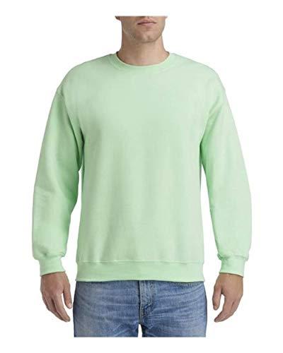 50 Fleece Crew Sweatshirt (Gildan Mens 8 Oz Heavy Blend 50/50 Fleece Crew (G180) -Mint Green -4XL)