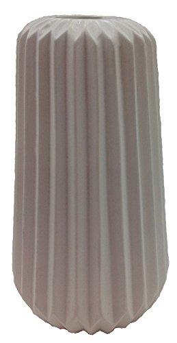 Pastel Tischvase Vase Blumentopf Origami Design Keramik (weiß) (Design Origami)