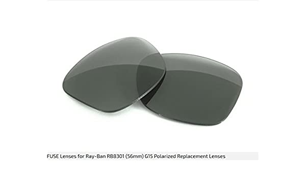 c2821a58d53 100611-G15 Fuse Replacement Lenses for Rayban RB8301 (56mm) with G15 Tint   Amazon.co.uk  Sports   Outdoors