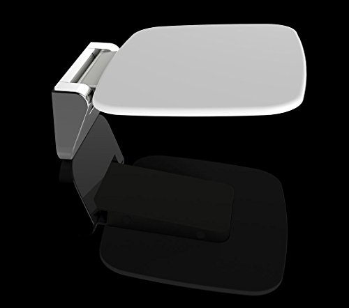 klappbarer Duschsitz in chrom-weiß zur Wandmontage