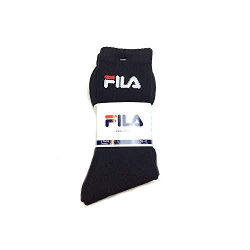 Herren Socken Fila Sport 3-Pack Socken- Gr. 43/46, Black