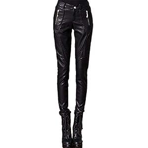 HHXWU Hosen Damenhosen dünne Hosen Dicker Größe Lederhosen Plus SAMT warm