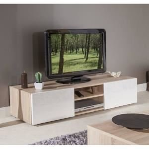 Lime meuble tv 140 cm chene/blanc