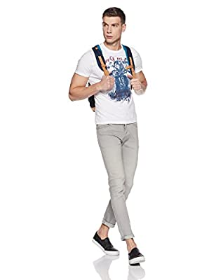 Peter England Men's Solid Slim Fit T-Shirt