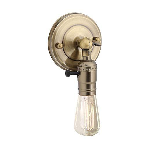 Vintage Light Holder E27 Edison Retro Wandleuchte mit Schalter für den Heimgebrauch und Dekoration 220V Silber(Bronze) -