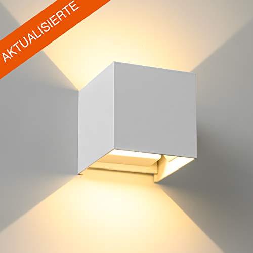 LED Wandlampe SEALIGHT Wandleuchte 7W Wandbeleuchtung 2835 SMD Lampe 2700K Warmweiß mit einstellbar Abstrahlwinkel Licht IP65 für Innen und Außenbeleuchtung Wohnzimmer Schlafzimmer Treppenhaus (Weiß) - 277v Lampen