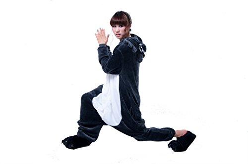 Imagen de lihao pijama disfraz de lobo para adulto unisex, cosplay, carnaval talla l  alternativa