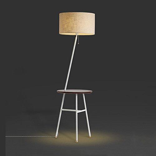 DELLT- American Village Creative Bedroom Salon Étagère Table basse Lampes de sol Tissu de canapé nordique à trois pieds en position verticale ( Couleur : Blanc )