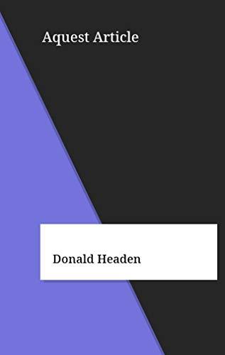 Aquest Article (Catalan Edition) por Donald Headen