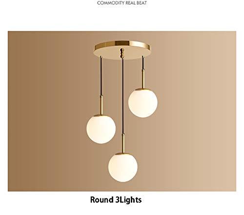 Moderne einfache gold copeer pendelleuchte, led nordic kreative dekoration einzigen / 3 leuchter glasschirm leuchte für flur gang restaurant-R1Lights*D30*H27cm -