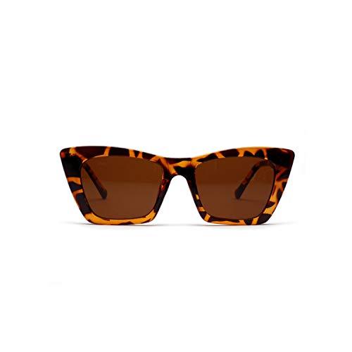 Sportbrillen, Angeln Golfbrille,Rectangle Flat Top Sunglasses Women NEW Vintage Cat Eye Sun Glasses Ladies Retro Driving Goggles Shades Sunglass UV400 Leopard