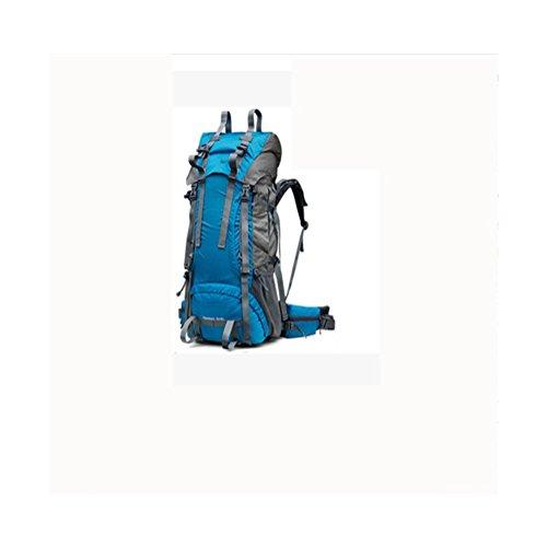 60L + 10L Bergsteigen Tasche Große Kapazitäten Profi Polar Paket Herren und Frauen Wasserdichte Reise Outdoor Rucksack royal blue
