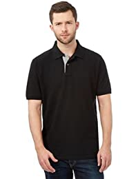 58df7895e5c16 Debenhams Maine New England Men Big And Tall Black Contrast Placket Pique Polo  Shirt