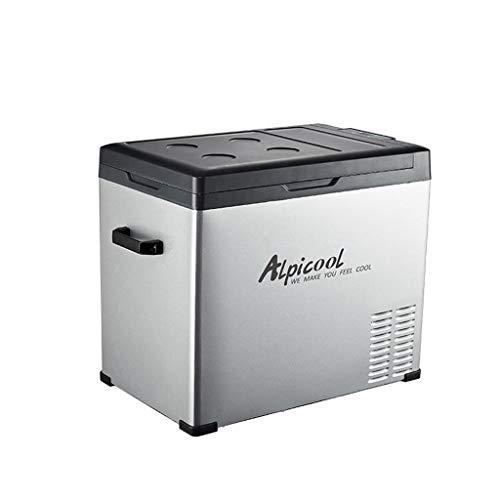 QCYSK Tragbarer Kompressor-Kühlschrank mit Gefrierfach, 12 V / 24 V / 220 V - Grau/Schwarz (50 l)