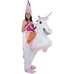 DISBACANAL Disfraz Unicornio Hinchable Adulto