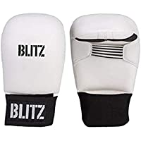 Blitz Sports Karate Elite PU Sparring Gloves - Blue