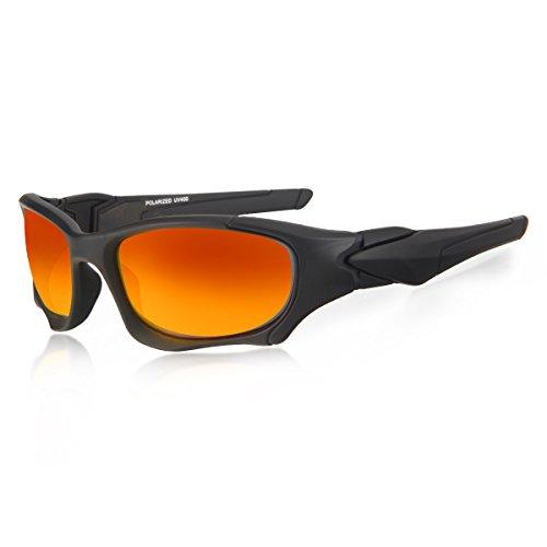 lunettes de soleil Polarized UV400 Sports Lunettes de soleil pour Outdoor Sports Driving Pêche Running Skiing Escalade Randonnée Convient pour les hommes et les femmes Vente bon marché (TJ-050) (A) auSSngQwh