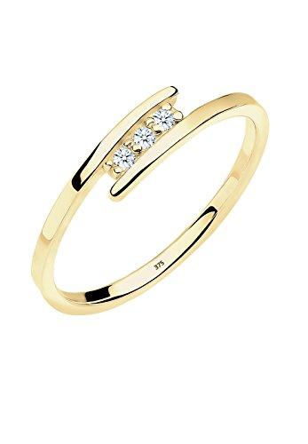 Diamore Damen Stapelring 375 Gelbgold Diamant Gr.58 (18,5)
